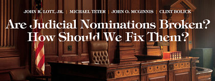 Teter Weighs in on Broken Judicial Confirmation Process in Cato Institute Journal